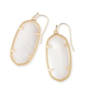NWT Kendra Scott Elles in Gold and White